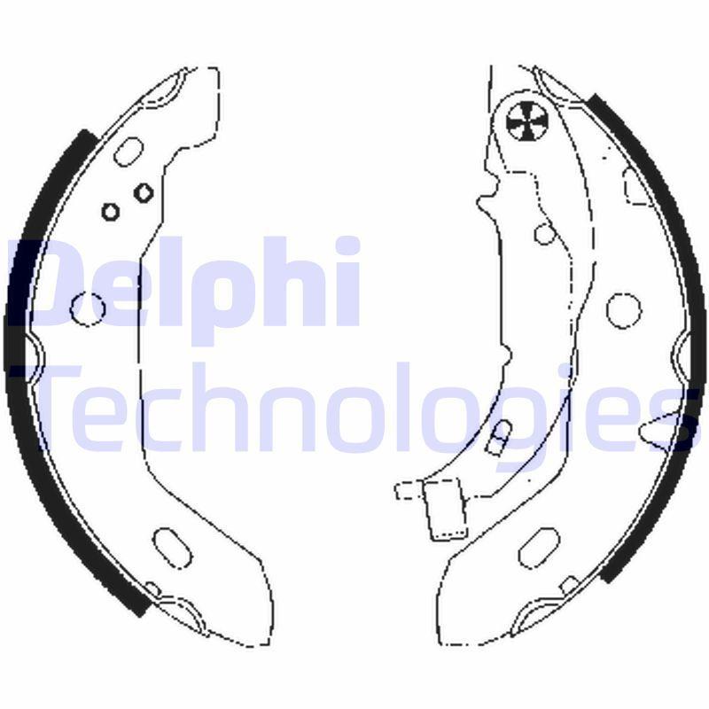 LS1841 DELPHI Ø: 180mm Breite: 42mm Bremsbackensatz LS1841 günstig kaufen