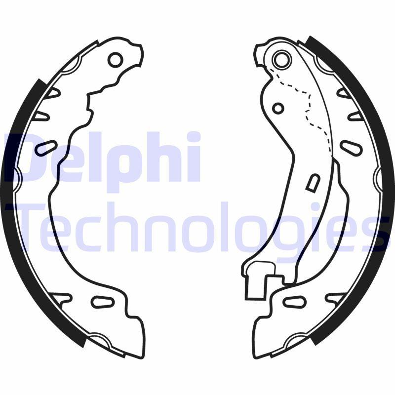 LS1971 DELPHI Ø: 180mm Breite: 32mm Bremsbackensatz LS1971 günstig kaufen