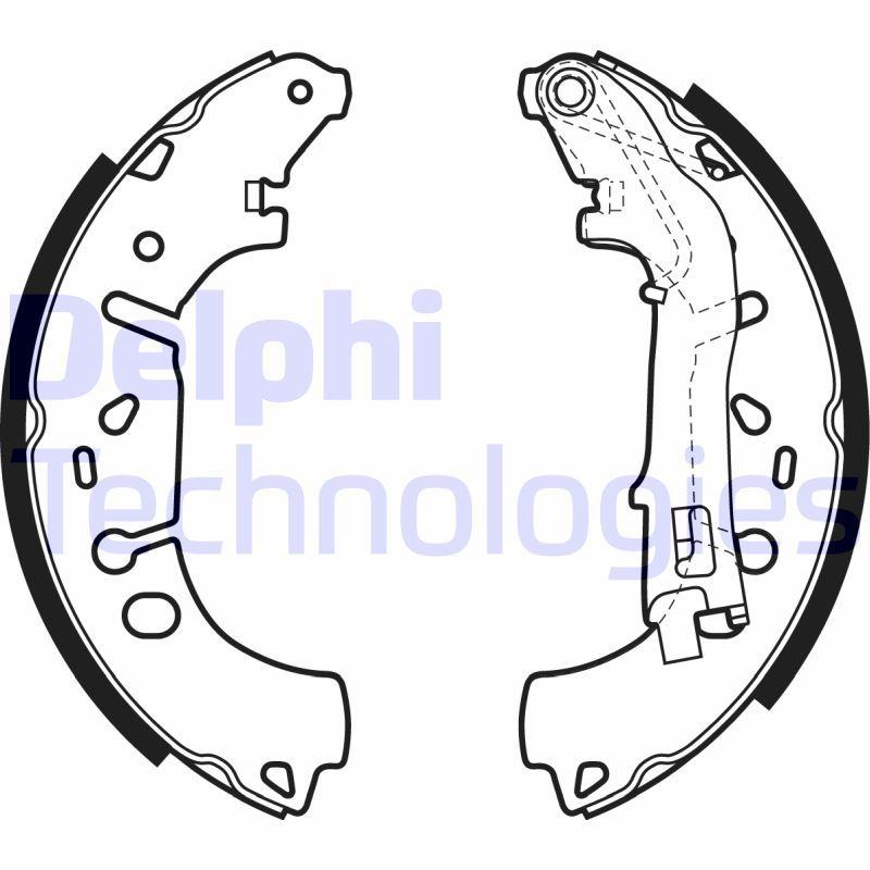 Original TALBOT Bremsbacken für Trommelbremse LS1981