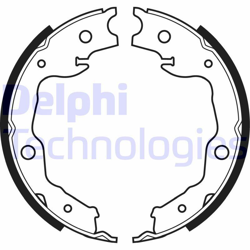 OE Original Bremsbacken Handbremse LS1999 DELPHI