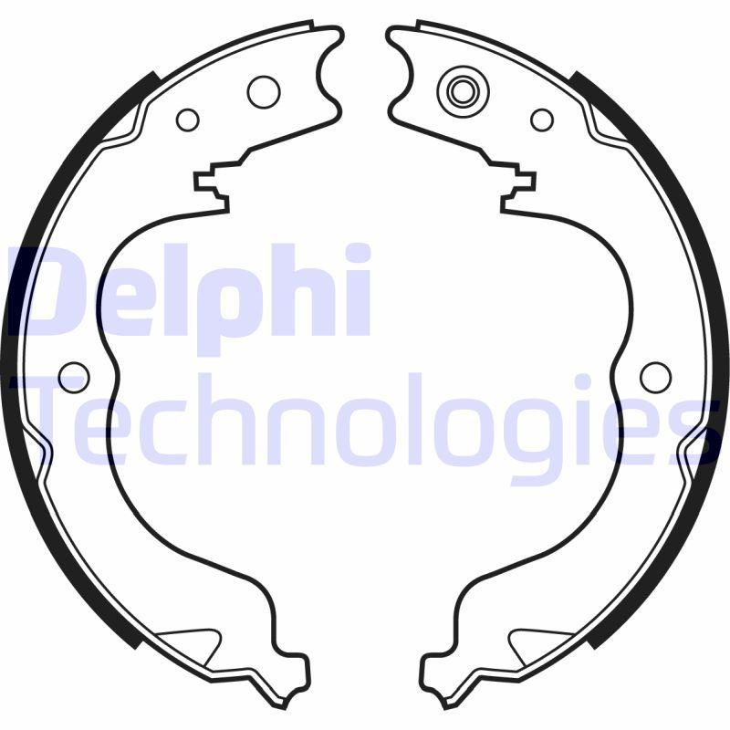 OE Original Bremsbacken Handbremse LS2008 DELPHI