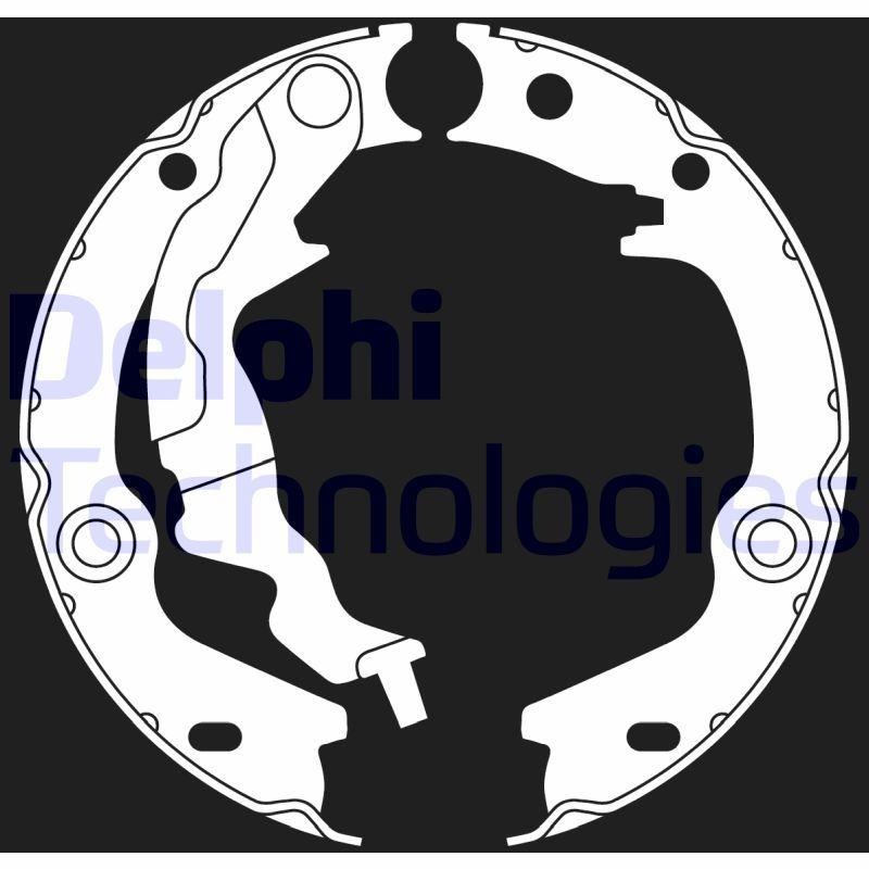 LS2017 DELPHI Ø: 168mm, Breite: 32mm, Ø: 168mm Bremsbackensatz, Feststellbremse LS2017 günstig kaufen