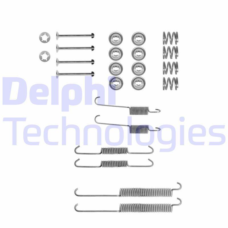 Zubehörsatz Feststellbremsbacken Handbremse Reparatursatz DELPHI LY1325