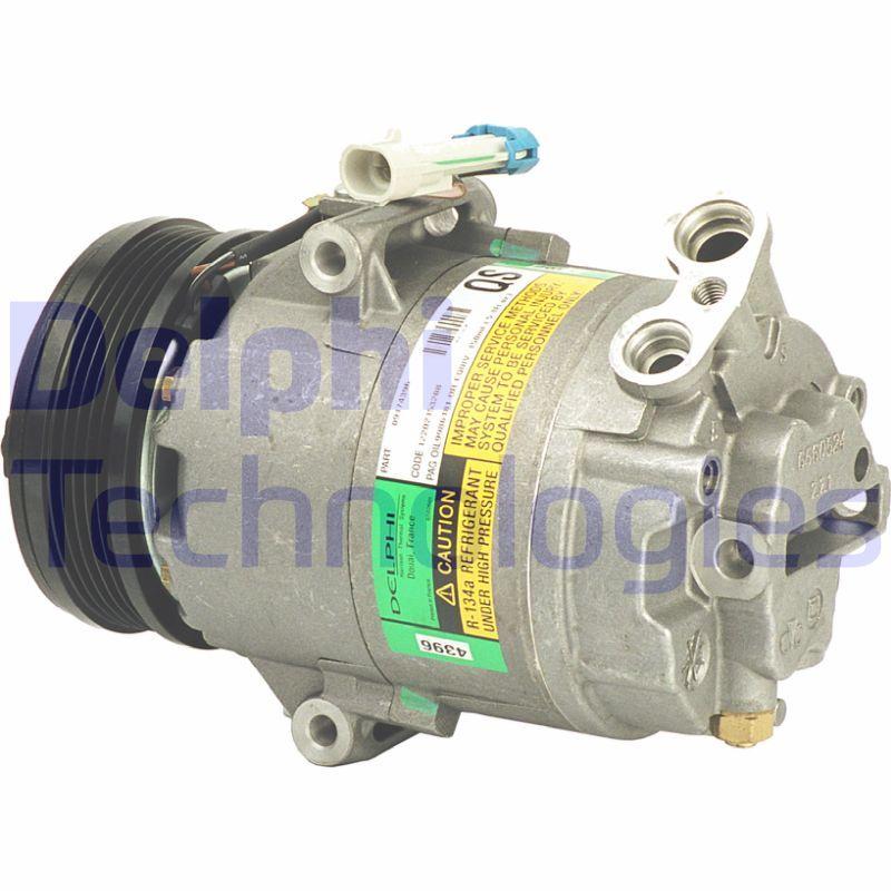 Klimakompressor OPEL Zafira Life (K0) 2019 - DELPHI TSP0155025 (Riemenscheiben-Ø: 105mm)
