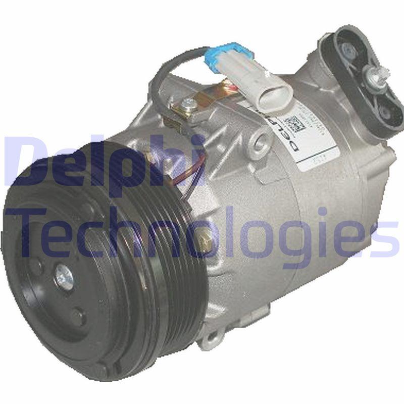 Kompressor Klimaanlage Opel Zafira f75 1999 - DELPHI TSP0155439 (Riemenscheiben-Ø: 105mm)