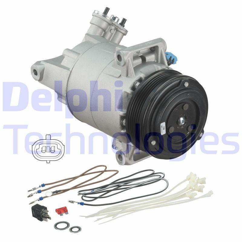 Kompressor Opel Zafira f75 2004 - DELPHI TSP0155449 (Riemenscheiben-Ø: 105mm)