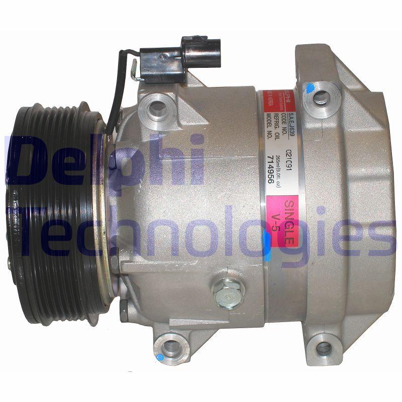 DELPHI: Original Klimakompressor TSP0155880 (Riemenscheiben-Ø: 119mm)