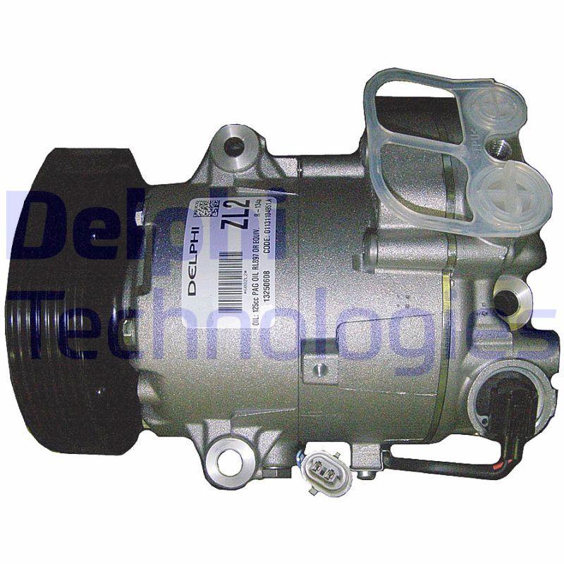 DELPHI: Original Kompressor TSP0155966 (Riemenscheiben-Ø: 120mm)
