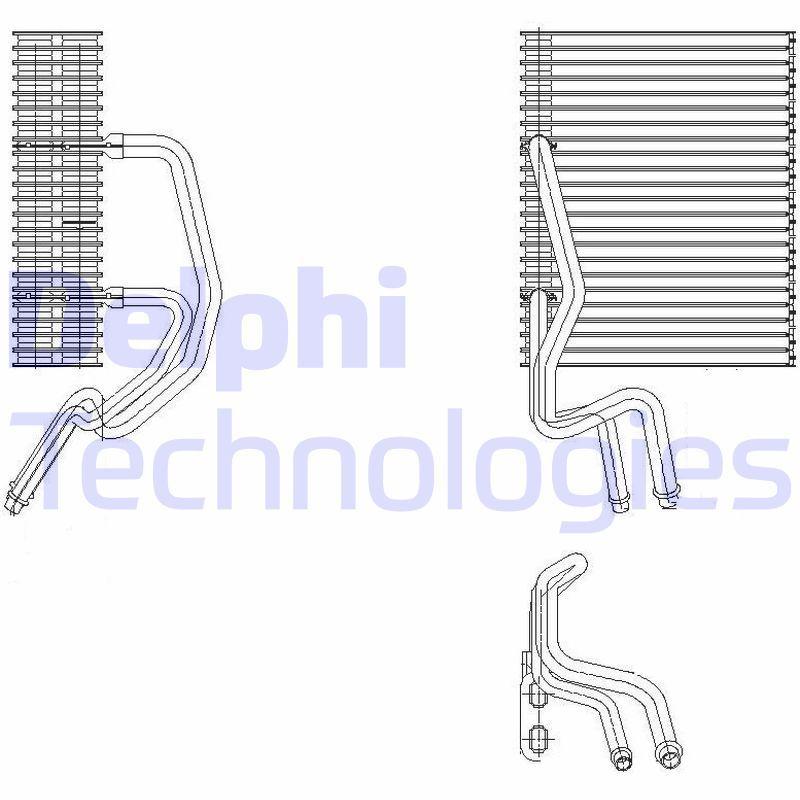 Original RENAULT Verdampfer Klimaanlage TSP0525177