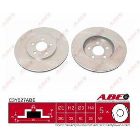 Brake Disc C3Y027ABE for DODGE STRATUS at a discount — buy now!