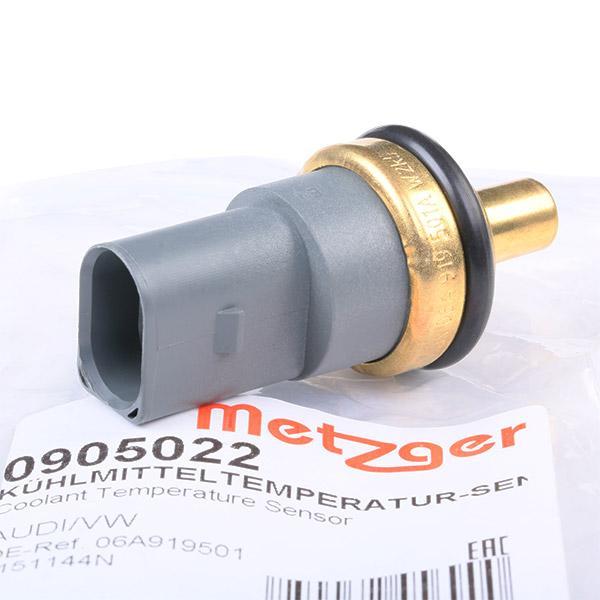 VW POLO 2017 Kühlmitteltemperaturfühler - Original METZGER 0905022 Pol-Anzahl: 2-polig