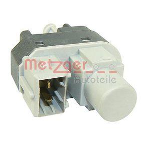 0911027 Schalter, Kupplungsbetätigung (GRA) METZGER 0911027 - Große Auswahl - stark reduziert