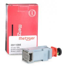 0911095 METZGER Schalter, Kupplungsbetätigung (GRA) 0911095 günstig kaufen