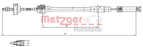 31703388 METZGER Länge: 1098mm, COFLE Seilzug, Kupplungsbetätigung 10.338 günstig kaufen