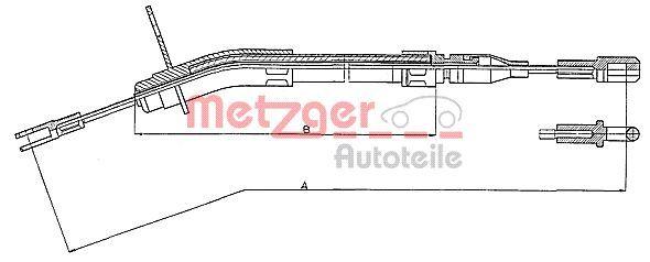 OE Original Bremszug 10.935 METZGER