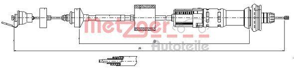 METZGER Seilzug, Kupplungsbetätigung 11.2154