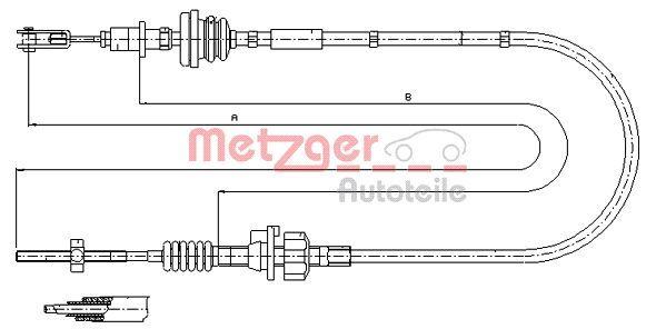 Kupplungsseil METZGER 11.2255