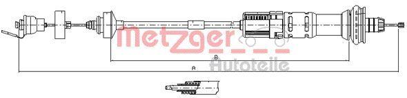 Kupplungsseilzug METZGER 11.3029
