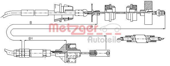 OE Original Kupplungsseilzug 11.3038 METZGER
