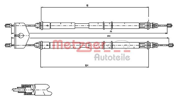 OE Original Handbremse 11.5453 METZGER