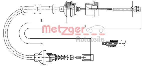 Kupplungsseil METZGER 1172.5