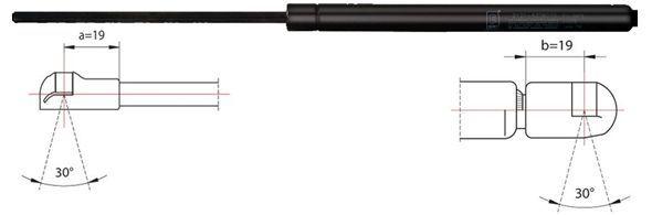 2110128 METZGER Ausschubkraft: 370N Länge: 440mm, Hub: 171mm Heckklappendämpfer / Gasfeder 2110128 günstig kaufen