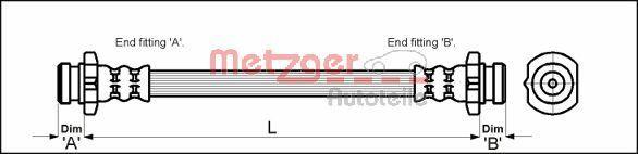 Bremsschläuche METZGER 4110041