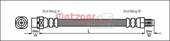 Bremsschlauch METZGER 4110043
