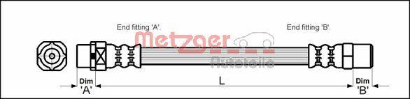 Bremsschlauch METZGER 4110053