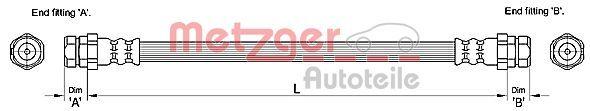 Bremsschlauch METZGER 4110244