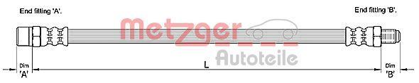 Bremsschläuche METZGER 4110257
