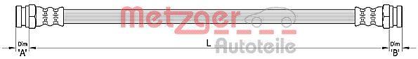 METZGER Bremsschlauch 4110311