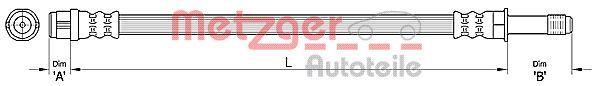 Bremsschläuche METZGER 4110434