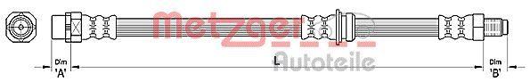 Bremsschläuche METZGER 4110478