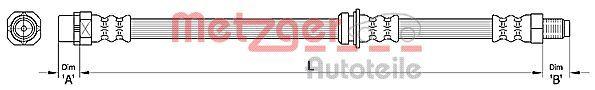 Bremsschlauch METZGER 4110479