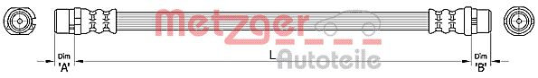 Bremsschläuche METZGER 4110480
