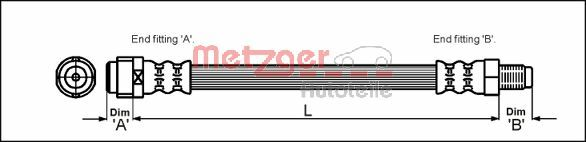 Bremsschlauch METZGER 4110574