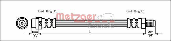 Bremsschlauch METZGER 4110578