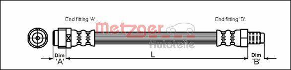 Bremsschläuche METZGER 4110581