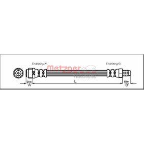 4110581 METZGER Länge: 284mm, Gewindemaß 1: M10 x 1, Gewindemaß 2: F10 x 1 Bremsschlauch 4110581 günstig kaufen