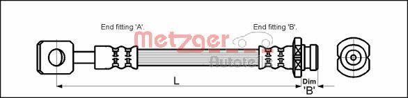 Original CHEVROLET Bremsschlauch 4110602