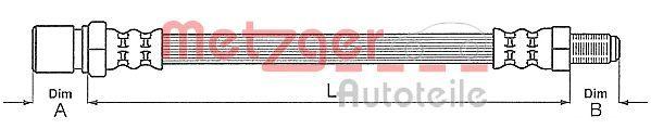 SMART CABRIO 2004 Rohre und Schläuche - Original METZGER 4111148 Länge: 311mm, Gewindemaß 1: M10 x 1, Gewindemaß 2: F10 x 1