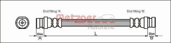 Originali Flessibile freno 4111168 Carbodies