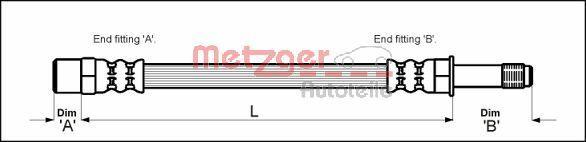 Bremsschlauch METZGER 4111718