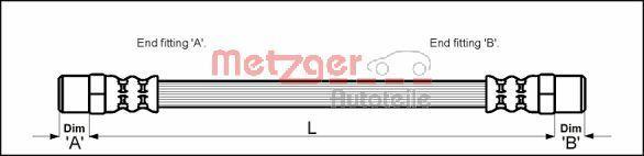 Bremsschlauch METZGER 4111756