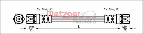 Bremsschlauch METZGER 4112109