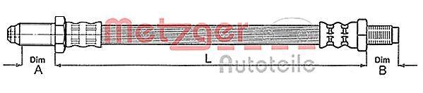 RENAULT KANGOO Kupplungsleitung - Original METZGER 4112219