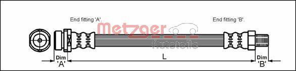 Bremsschlauch METZGER 4112314