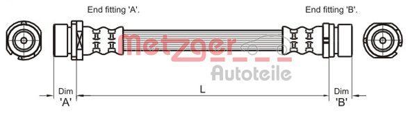 Bremsschläuche METZGER 4112336