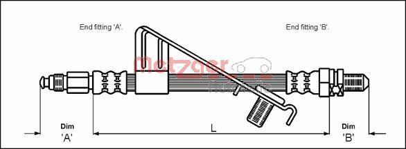 Bremsschlauch METZGER 4112527